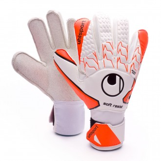 Guante  Uhlsport Soft Resist White-Fluor orange-Black