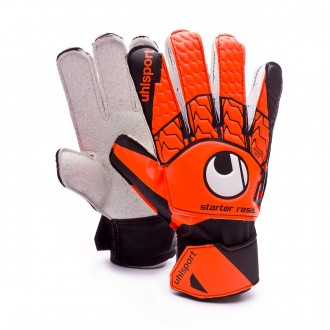 Luvas  Uhlsport Starter Resist Fluor orange-Black-White