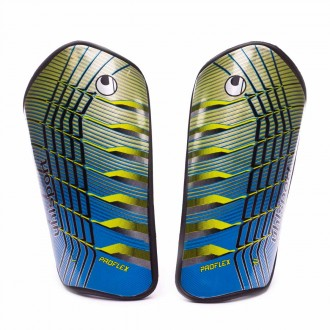 Shinpads  Uhlsport Pro Flex White-Cyan-Fluor yellow