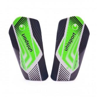 Caneleira  Uhlsport Super Lite Plus Black-Fluor green-White