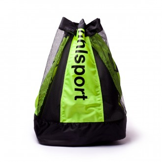Bag  Uhlsport Ball carrier (16 balls) Black-Fluor yellow