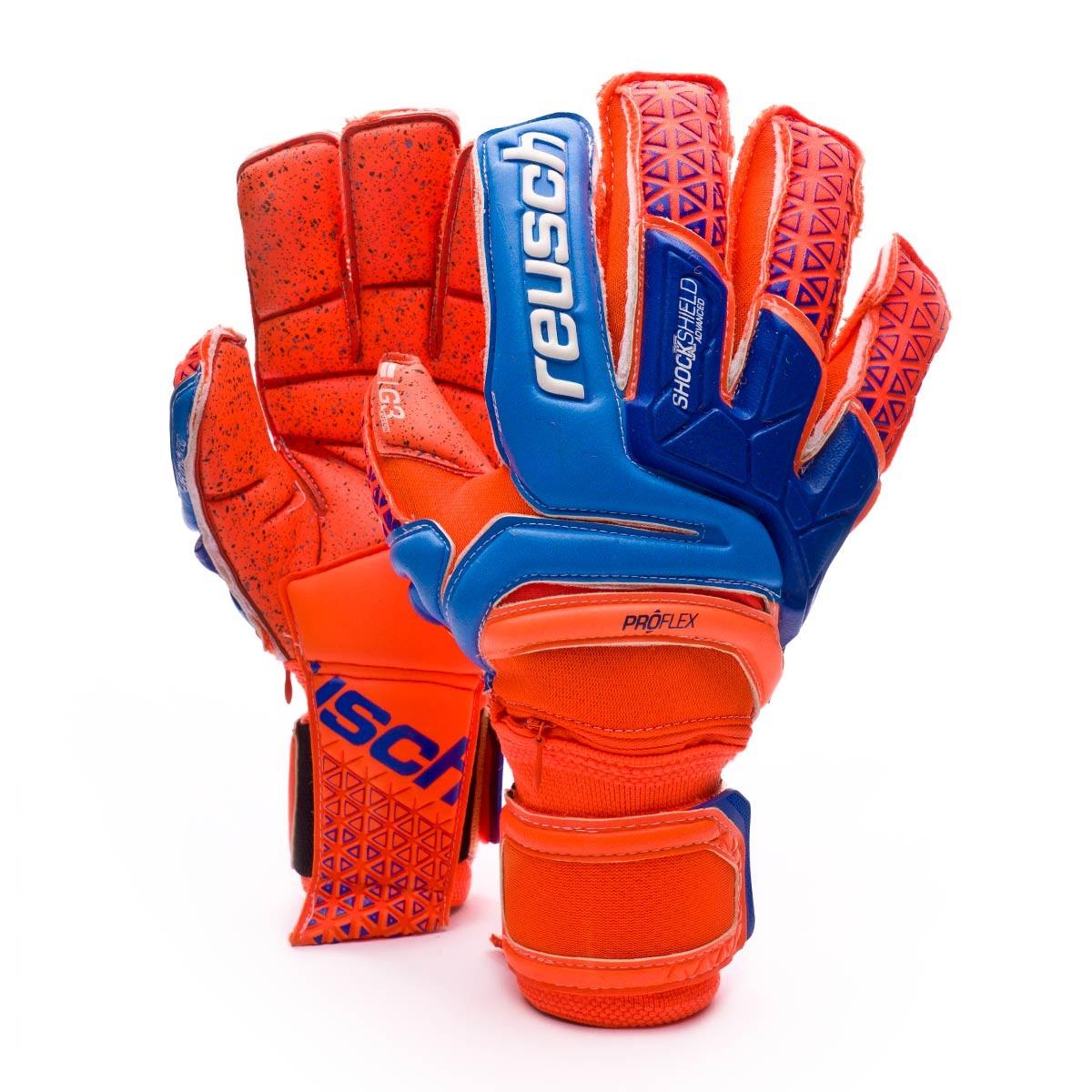 7f10c8cebf8 Glove Reusch Prisma Supreme G3 Fusion Ortho-Tec Shocking orange-Blue-Shocking  orange - Football store Fútbol Emotion