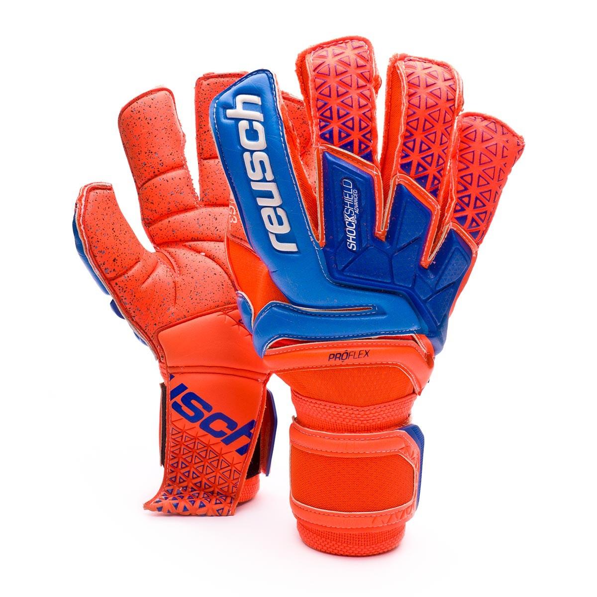 cd84f4ae5dfdb Guante de portero Reusch Prisma Supreme G3 Fusion Shocking  orange-Blue-Shocking orange - Tienda de fútbol Fútbol Emotion