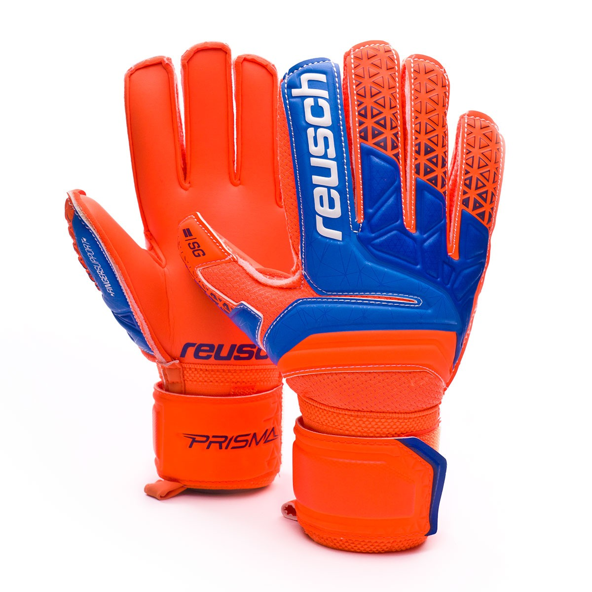 5a0a835b230 Reusch Kids Prisma SG Finger Support Glove. Shocking orange-Blue-Shocking  ...