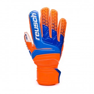Guante  Reusch Prisma SG Finger Support Shocking orange-Blue