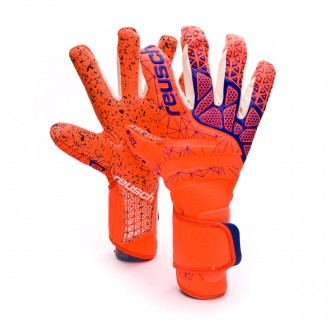 Glove  Reusch Pure Contact G3 Fusion Shocking orange-Blue-Shocking orange