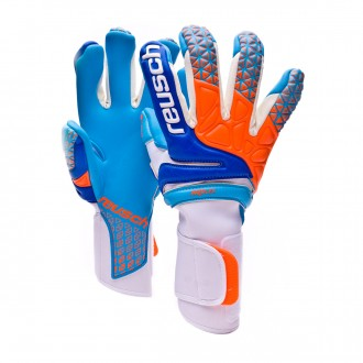 Glove  Reusch Prisma Pro AX2 Evolution Negative Cut White-Aqua blue