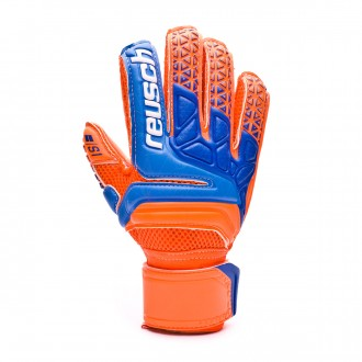 Luvas Reusch Prisma Prime S1 Finger Support Crianças Shocking orange-Blue-Shocking orange