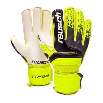 Glove  Reusch Kids Prisma SG Finger Support  Safety yellow-Black