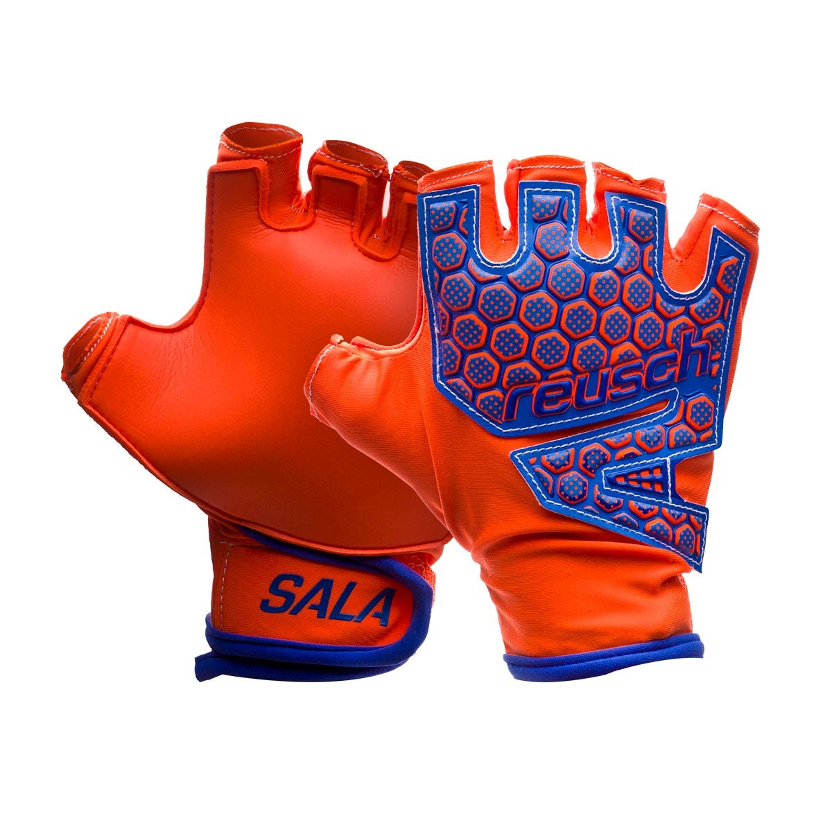 09a9f0eee8ac Glove Reusch Reusch Futsal SG SFX Shocking orange-Blue-Shocking ...