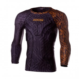Jersey  Reusch Reusch CS 3/4 Undershirt Padded Pro Black-Shocking orange