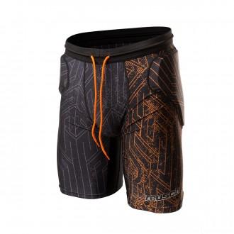 Malla  Reusch Reusch CS Short Padded Black-Shocking orange