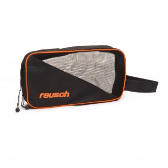 Toilet bag  Reusch Portero Single Bag Black-Shocking orange