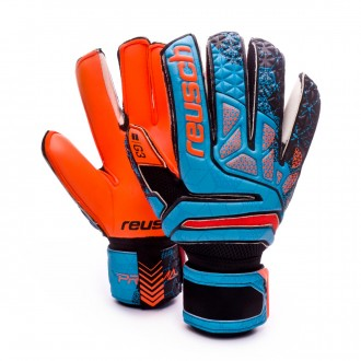 Luvas  Reusch Prisma Prime G3 Finger Support Blue-Black-Orange