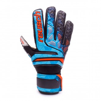 Luvas  Reusch Prisma SG Finger Support Blue-Black-Orange