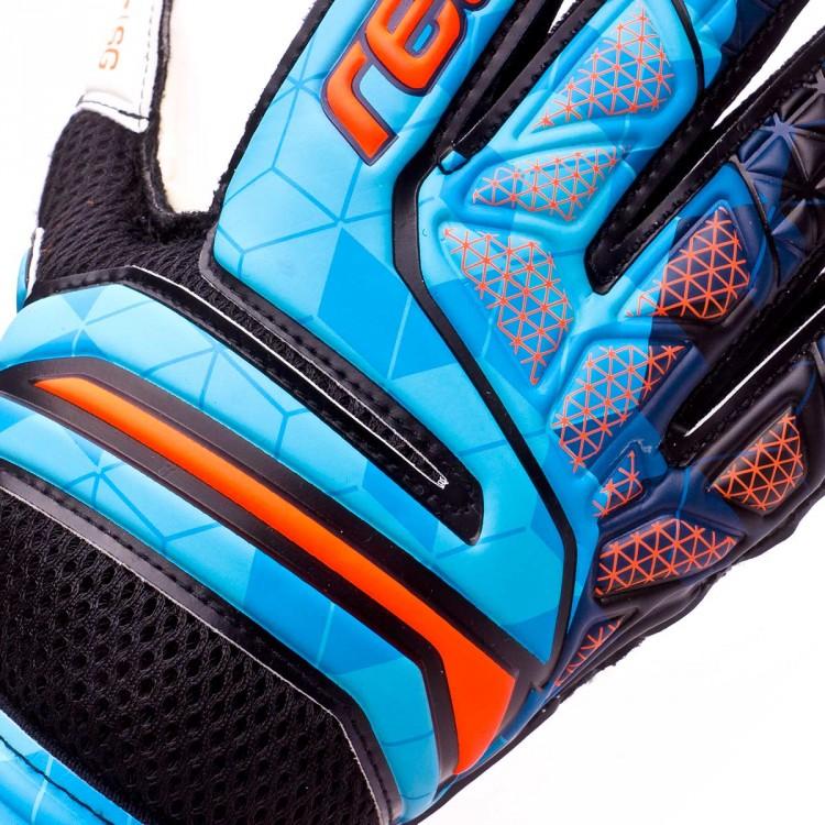 Guante de portero Reusch Prisma SG Finger Support Blue-Black-Orange ... 6ba280e936d80