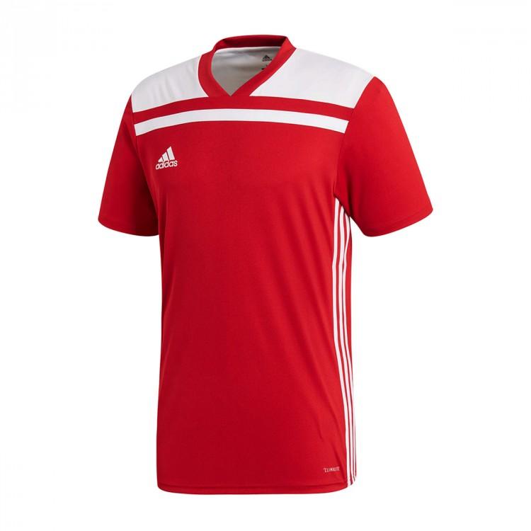 Camiseta adidas Regista 18 m c Power red-White - Soloporteros es ... 858c3721177d1