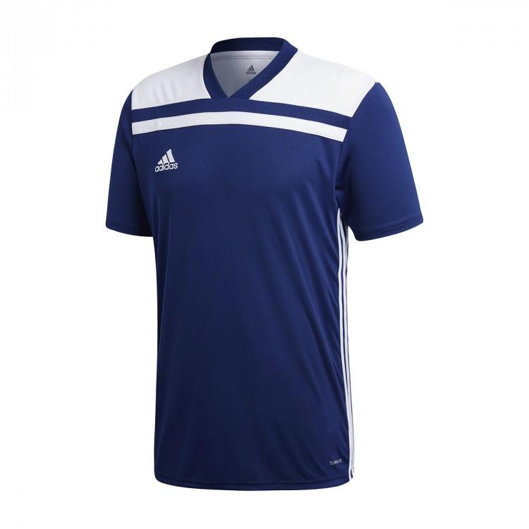 Camiseta adidas Regista 18 m c Dark blue-White - Soloporteros es ... 9dde4e80dcef5