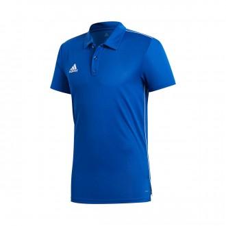 Polo shirt  adidas Core 18 m/c Bold blue-White