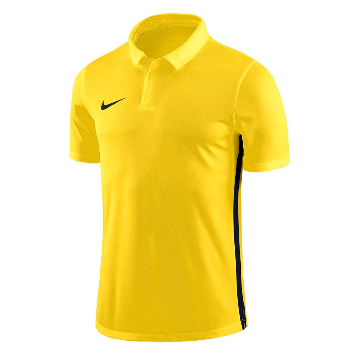 Lago taupo Al borde cobertura  Polo shirt Nike Academy 18 m/c Tour yellow-Anthracite-Black - Football  store Fútbol Emotion