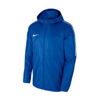 Raincoat  Nike Repel Park 18 Rain Woven Royal blue-White