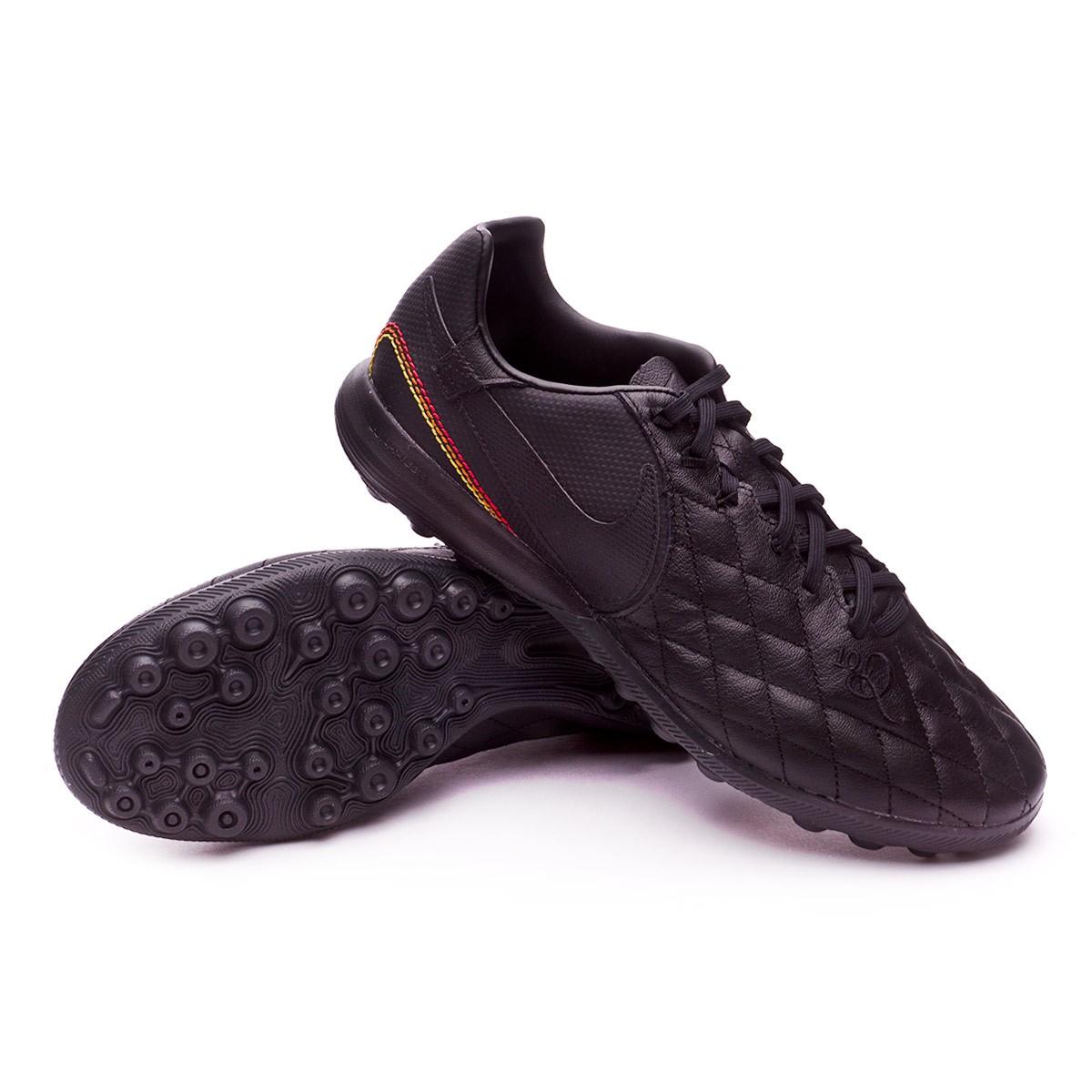 13aafc6a6 Nike TiempoX Finale 10R Paris Turf Football Boot. Black-Metallic gold ...