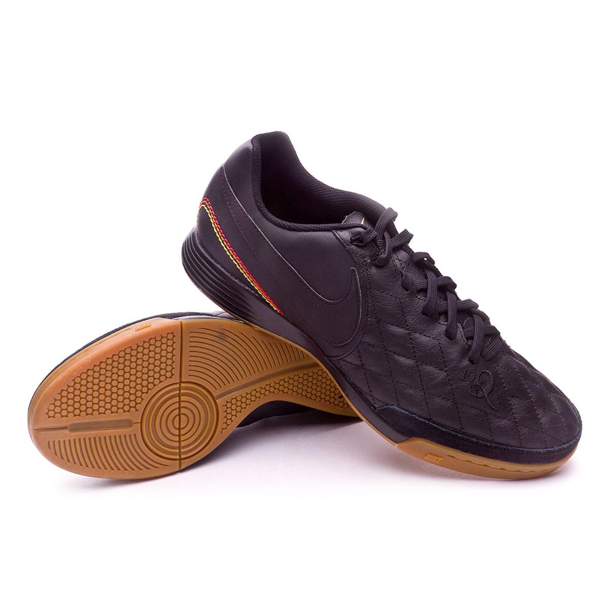 1f5dad111 Nike TiempoX Ligera IV 10R Paris IC Futsal Boot. Black-Metallic gold ...