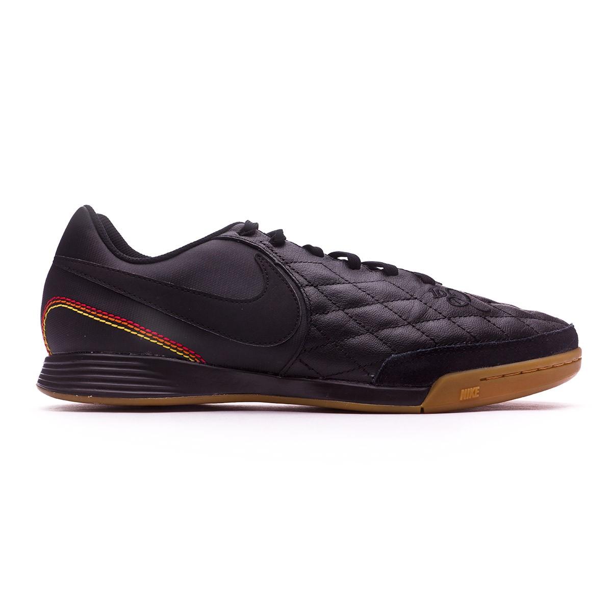 3af7dd590 Futsal Boot Nike TiempoX Ligera IV 10R Paris IC Black-Metallic gold -  Football store Fútbol Emotion