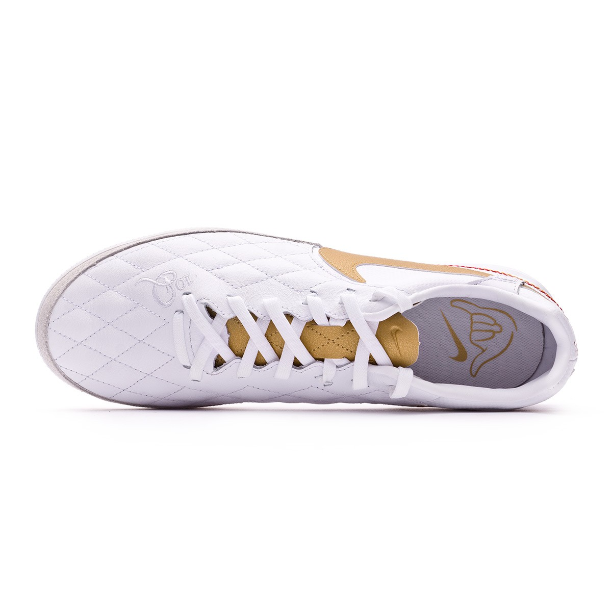 0e94800434ad Futsal Boot Nike Lunar LegendX VII Pro 10R Barcelona IC White-Metallic gold- White - Tienda de fútbol Fútbol Emotion