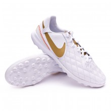 Zapatilla Lunar LegendX VII Pro 10R Barcelona Turf White-Metallic gold-White