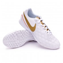 Zapatilla LegendX VII Academy 10R Barcelona Turf White-Metallic gold-White