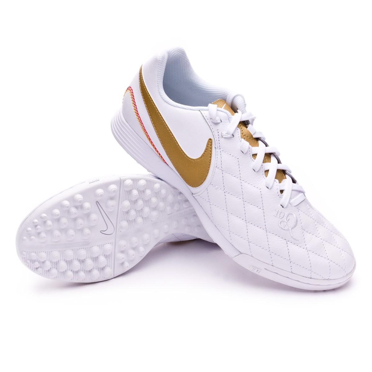 c29660e06 Football Boot Nike LegendX VII Academy 10R Turf White-Metallic gold ...
