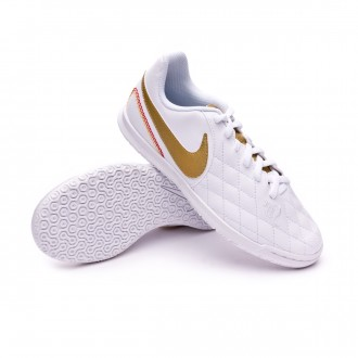 Futsal Boot Nike Kids LegendX VII Club 10R IC White-Metallic gold-White