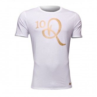 Camiseta  Nike 10R White-Metallic gold