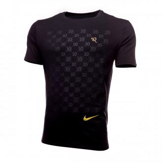 Camiseta  Nike 10R Repeat Black-Metallic gold