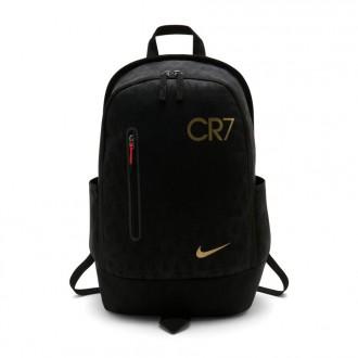 Mochila  Nike CR7 Football Niño Black-Metallic gold