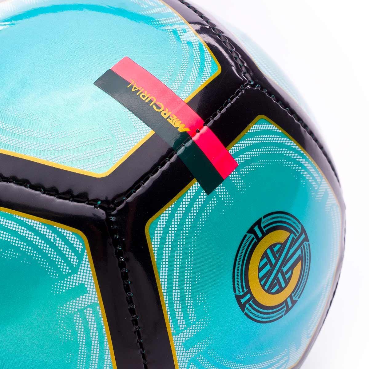 44e957ed7 Ball Nike Mini CR7 Skills Clear emerald-Black-Gold - Football store Fútbol  Emotion