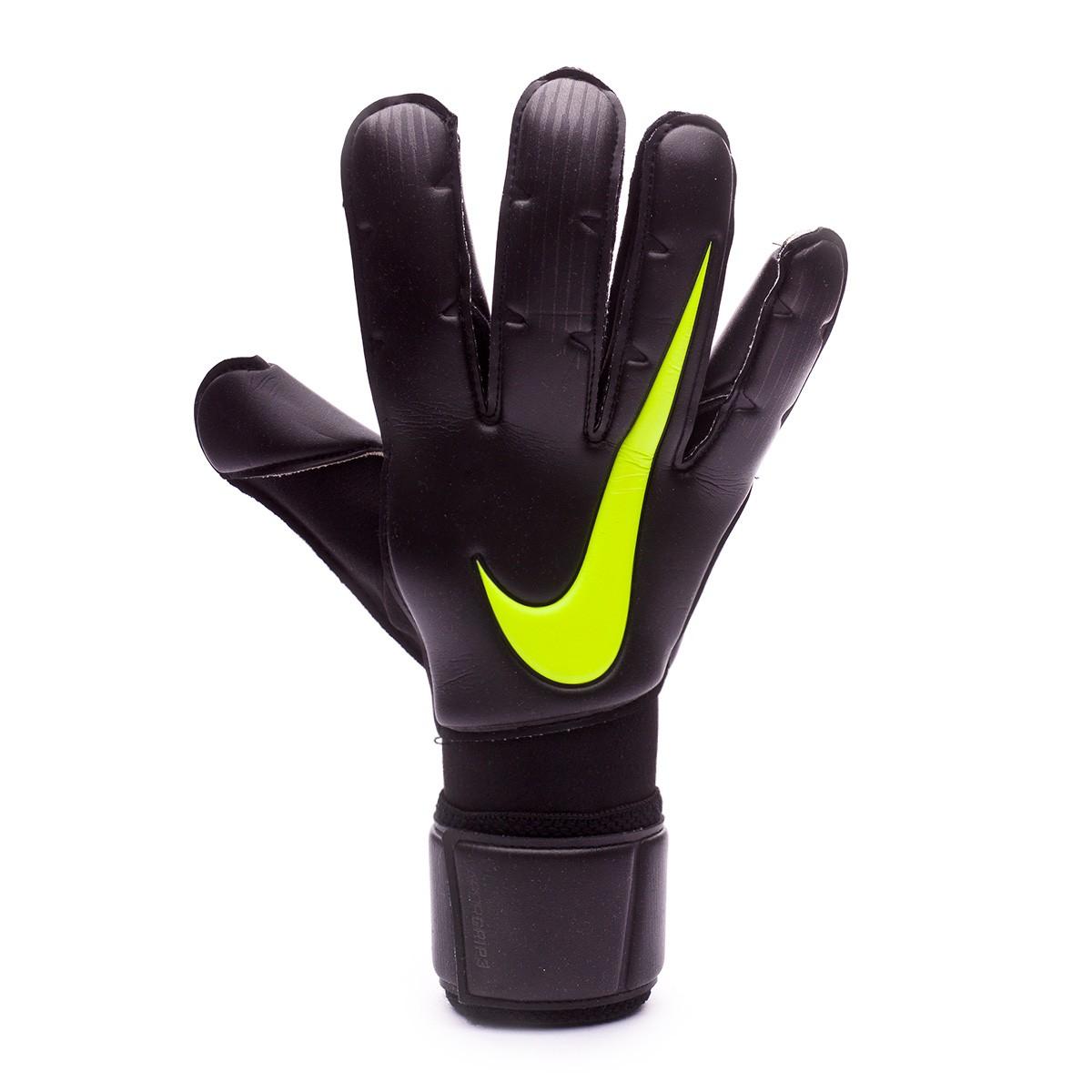 8c93ae3e497f0 Guante de portero Nike Vapor Grip 3 Black-Volt - Tienda de fútbol Fútbol  Emotion
