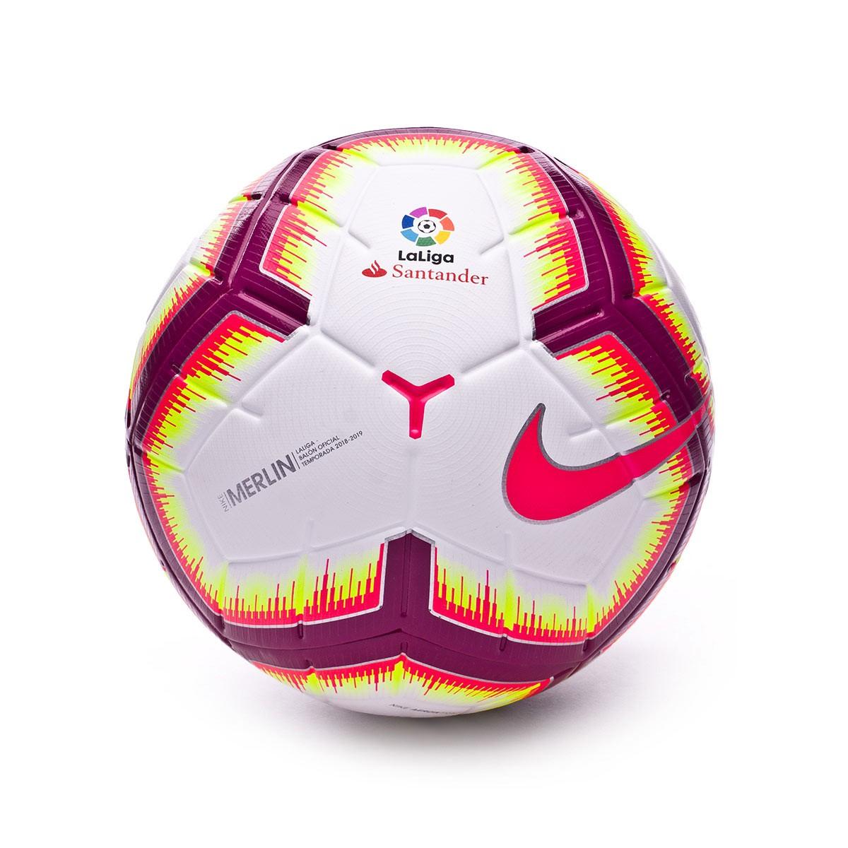 Ropa Sacrificio Escuchando  Ball Nike LaLiga Merlin 2018-2019 White-Pink flash-Team red - Football  store Fútbol Emotion