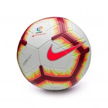 Bola de Futebol LaLiga Strike 2018-2019 White-Pink flash-Team red