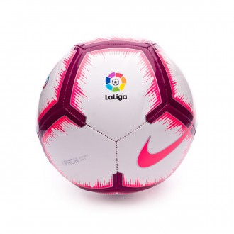 Bola de Futebol  Nike LaLiga Pitch 2018-2019 White-Pink flash-Team red