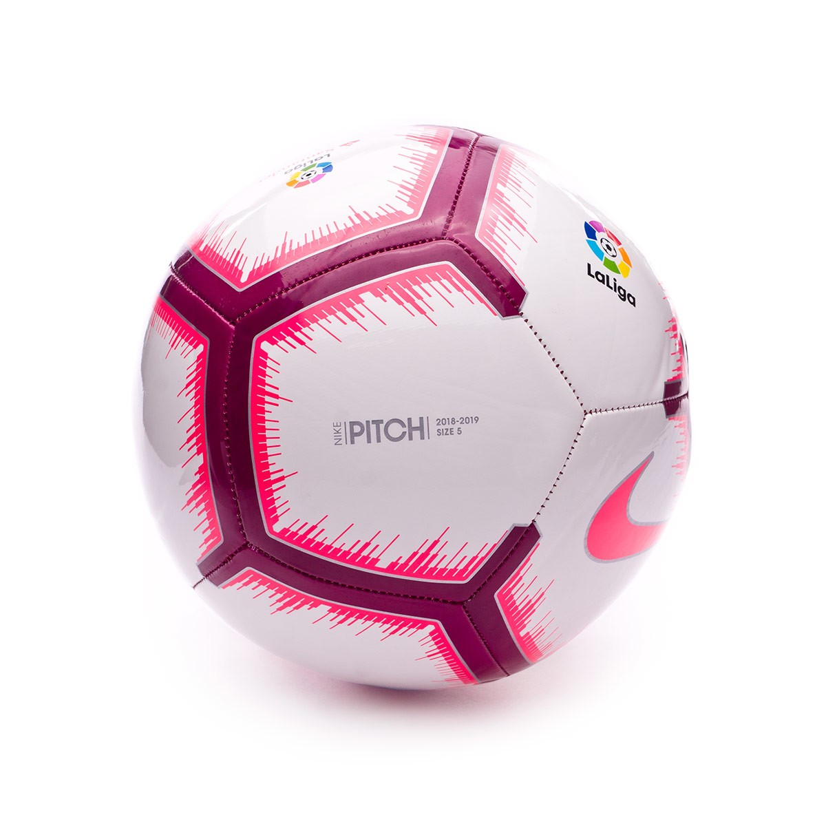 3153ee7c6 Ball Nike LaLiga Pitch 2018-2019 White-Pink flash-Team red - Football store  Fútbol Emotion