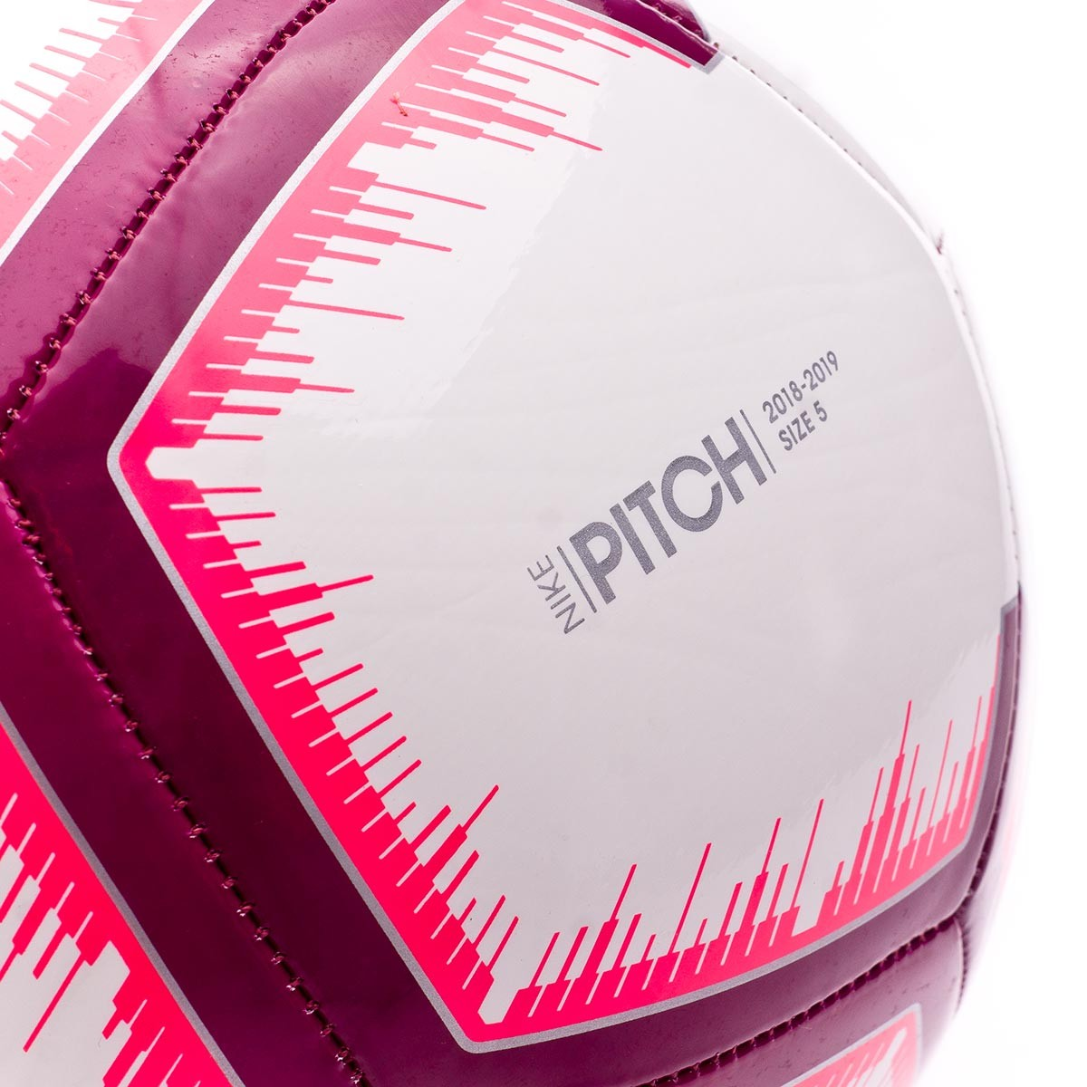 Balón Nike LaLiga Pitch 2018-2019 White-Pink flash-Team red ... 22427f13a4b9a