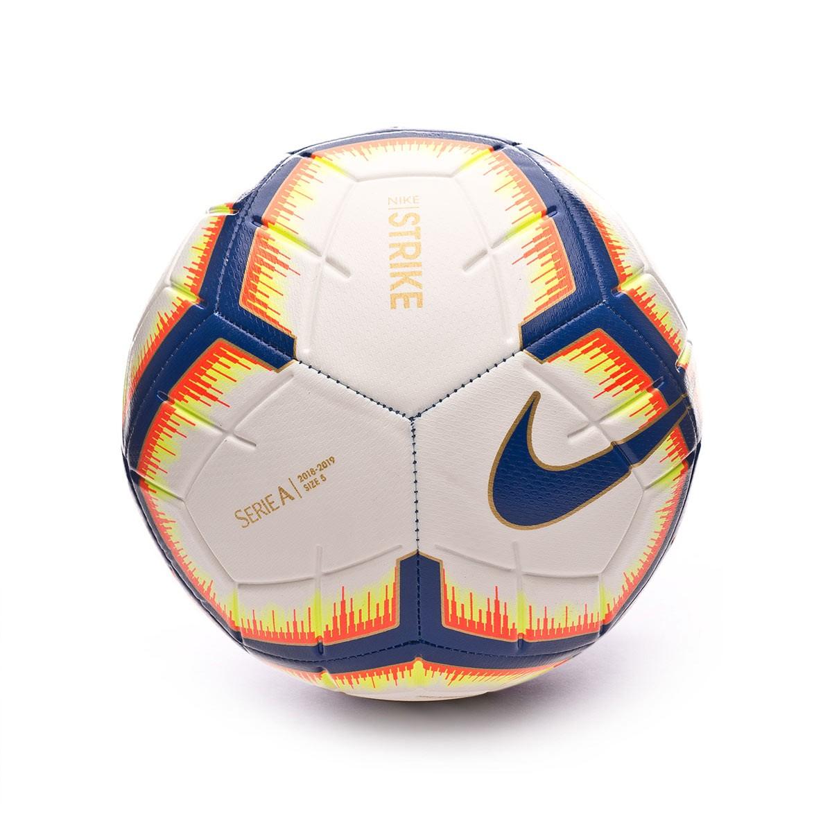 4bd0c78e6 Ball Nike Serie A Strike 2018-2019 White-Bright mango-Royal blue - Football  store Fútbol Emotion