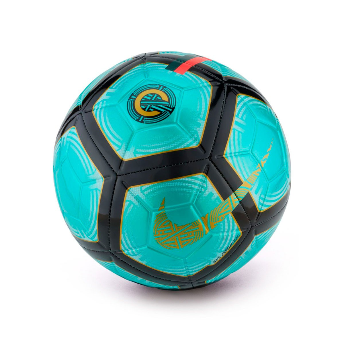 Bola de Futebol Nike Strike CR7 Clear emerald-Black-Gold - Loja de ... d0a1d93d06dff