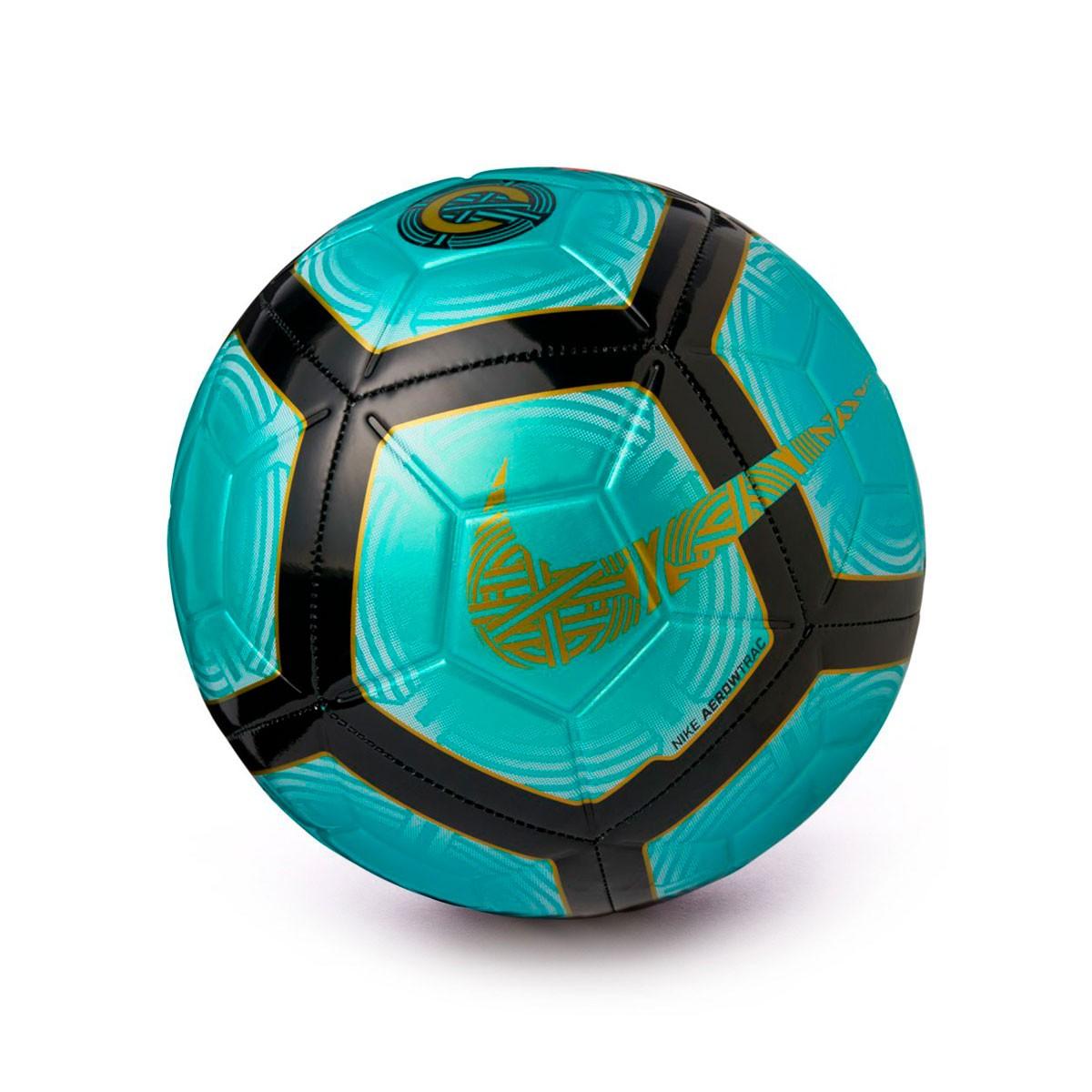 62c6dd4e6c42 Ball Nike Strike CR7 Clear emerald-Black-Gold - Football store ...