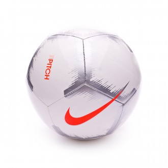 Balón  Nike Pitch - Event Pack White-Chrome-Total orange