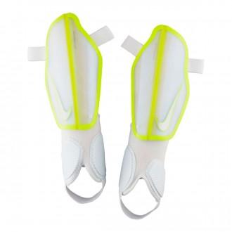 Espinillera  Nike Protegga Flex White-Volt