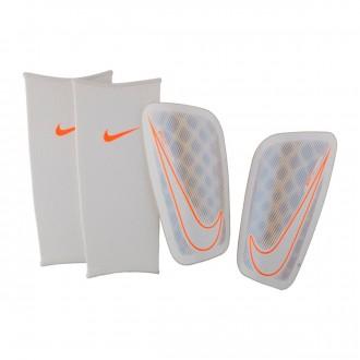 Espinillera  Nike Mercurial Flylite White-Chrome