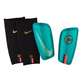 Espinillera  Nike Mercurial Lite CR7 Clear esmerald-Black-Gold